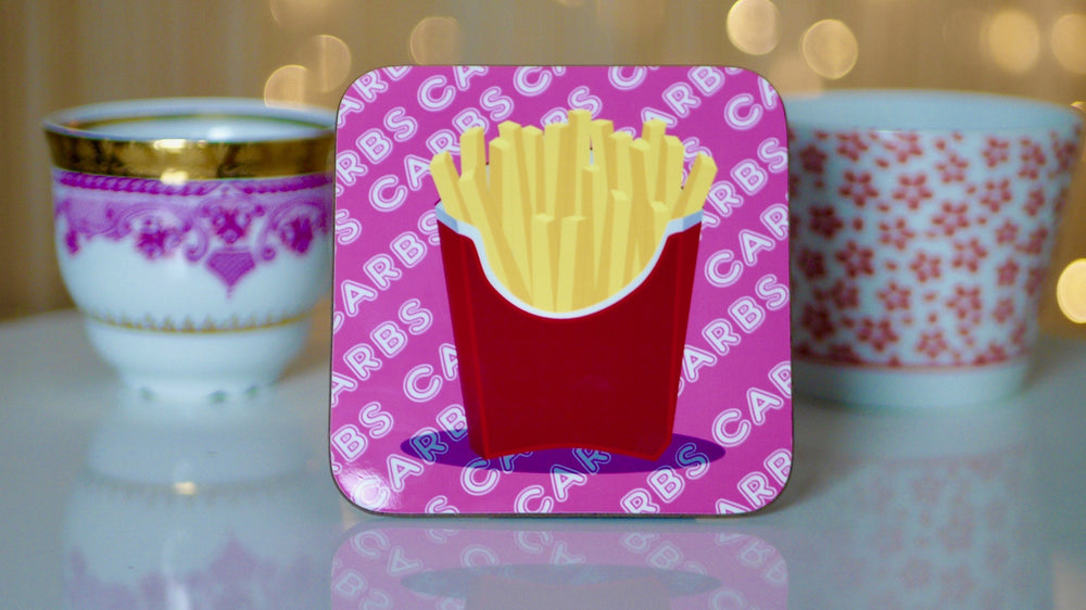 French Fries Carbs Coaster - Fast Food Collection - Kitsch Republic