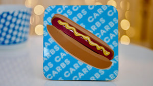 Hot Dog Carbs Coaster - Fast Food Collection