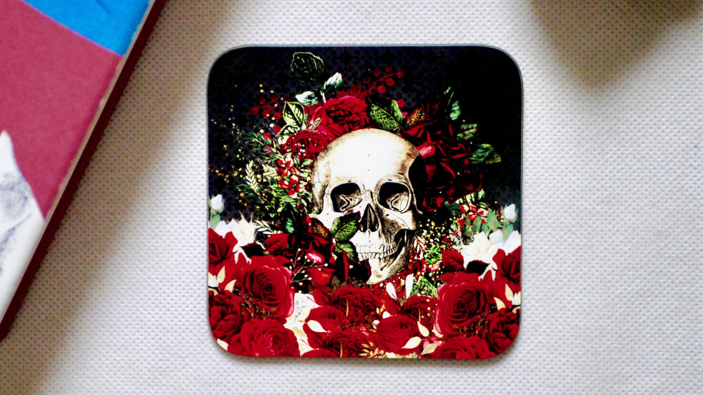 Copy of Skull Day of the Dead Floral Coaster - Collection - Kitsch Republic