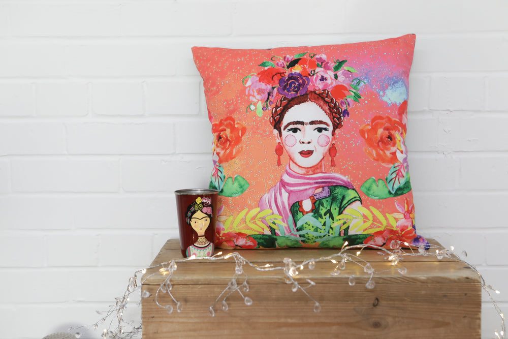 Frida Kahlo Velvet Cushion