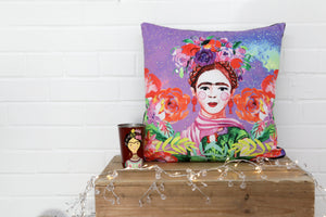 Load image into Gallery viewer, Frida Kahlo Velvet Cushion
