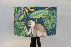 Green Tropical Lampshade Monkey