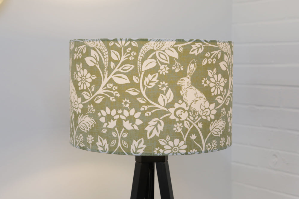 Green Sage Floral Hare / Rabbit Country Lampshade - Kitsch Republic