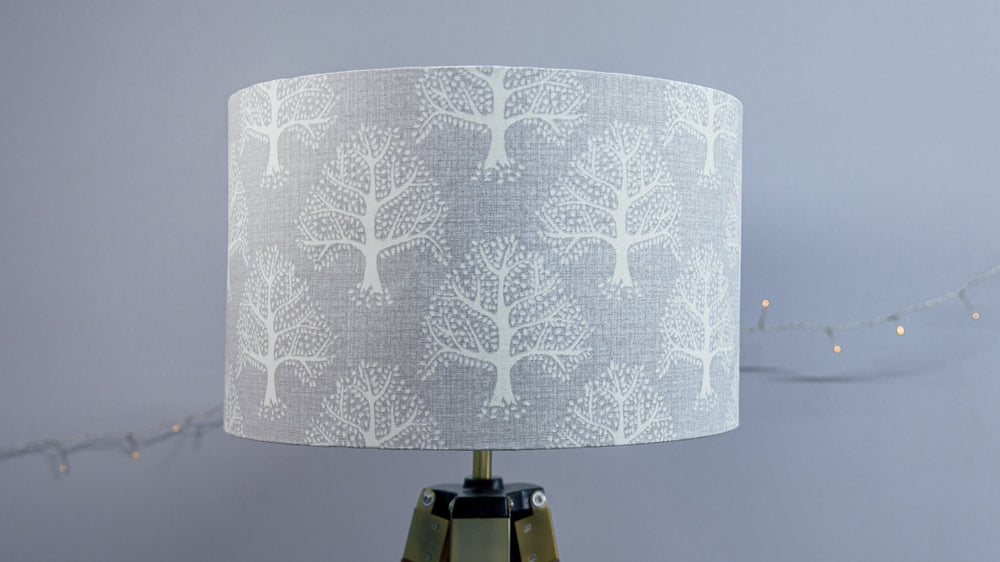 Slate Grey Tree Lampshade - Kitsch Republic