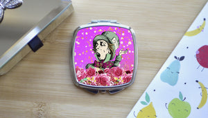 Alice in Wonderland Mad Hatter Pink Compact Mirror