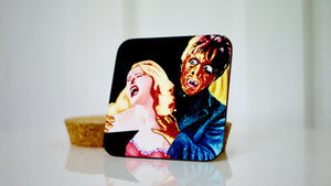 Load image into Gallery viewer, Horror Film Creepy Coaster - Kitsch Republic