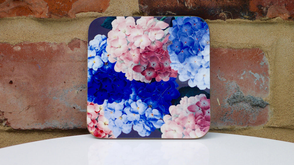 Load image into Gallery viewer, Hydrangea Floral Coaster - Kitsch Republic