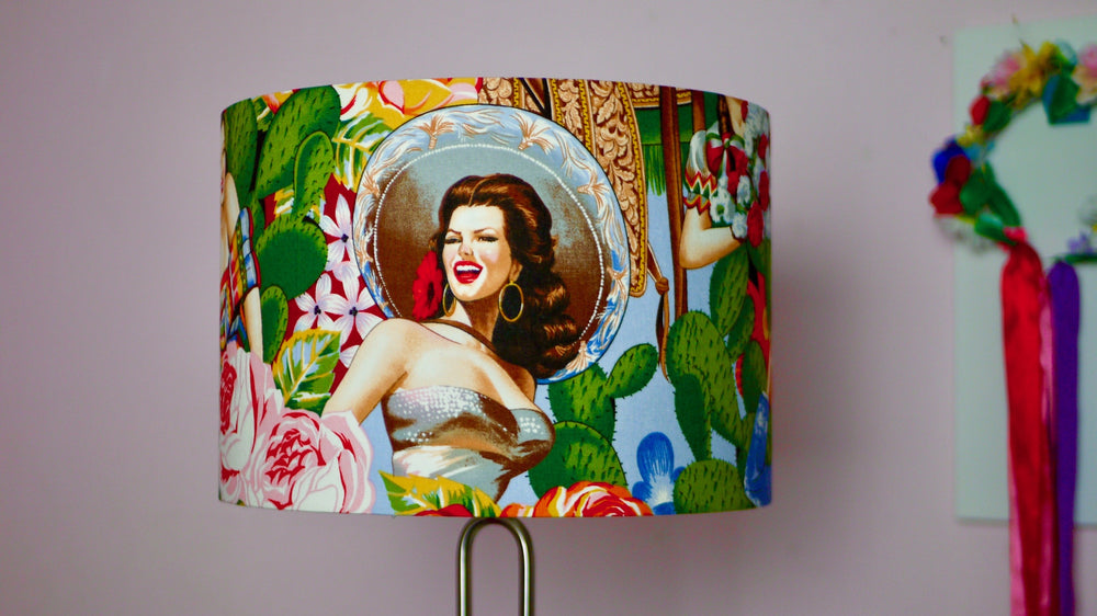 Seniorita - Mexican Pin Up Lampshade - Kitsch Republic