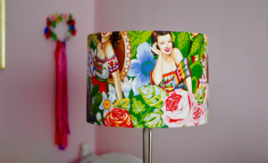 Load image into Gallery viewer, Seniorita - Mexican Pin Up Lampshade - Kitsch Republic