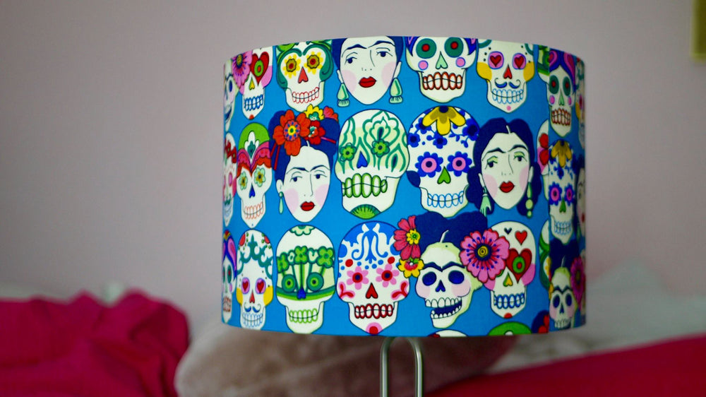 Frida Khalo Day of the Dead Lampshade - Kitsch Republic