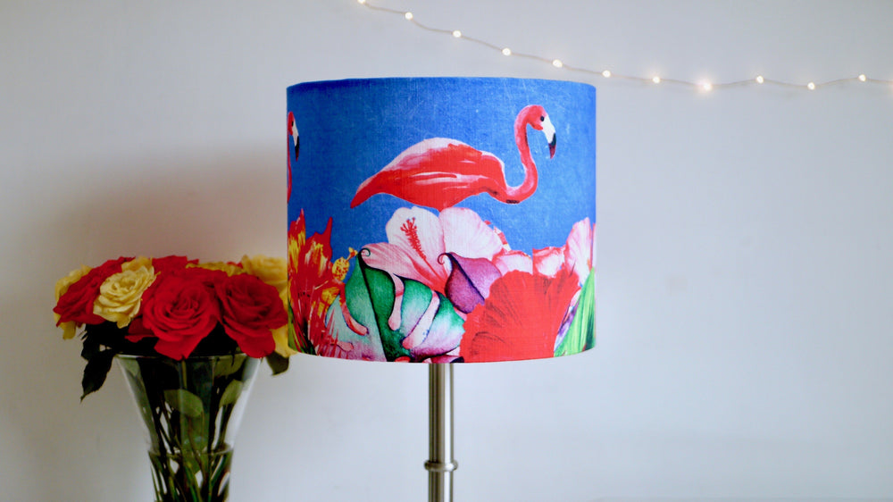 Load image into Gallery viewer, Flamingo Tropical Handmade Lampshade - Kitsch Republic