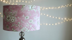 Dusty Pink Bird Finch Lampshade - Kitsch Republic