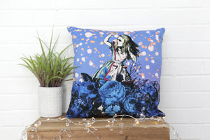 Load image into Gallery viewer, Alice in Wonderland Velvet Cushion