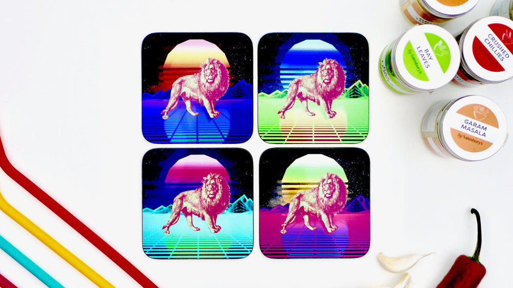 Load image into Gallery viewer, Lion Coasters