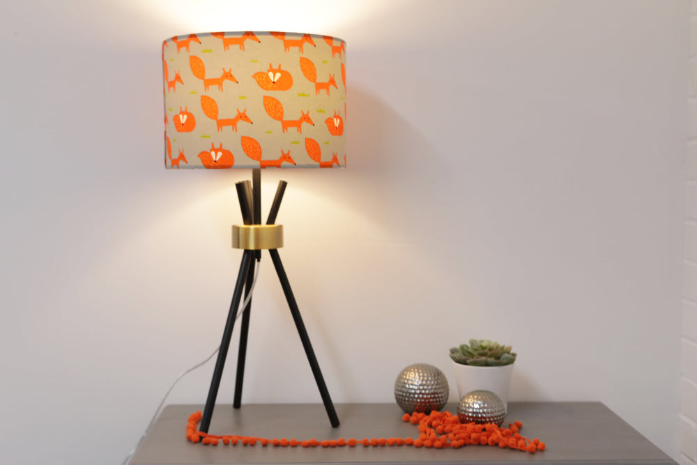 Load image into Gallery viewer, Grey Fox Lampshade