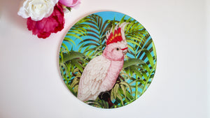 Load image into Gallery viewer, Tropical Parrot / Bird Glass Worktop Saver - Chopping Board - Placemat