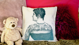 Tattoo Woman Cushion - Canvas Feel Cushion inc. Inner 45cm x 45cm