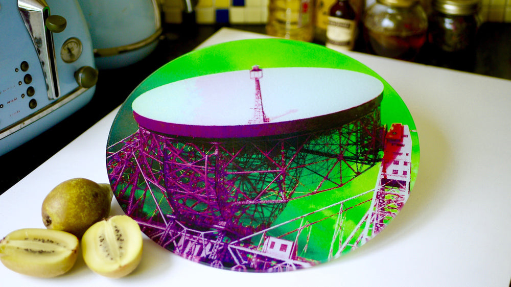 Load image into Gallery viewer, Jodrell Bank Green Glass Worktop Saver - Chopping Board - Placemat - Kitsch Republic