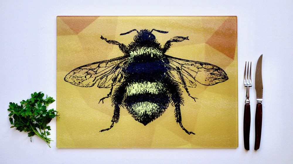 Yellow Bee Chopping Board