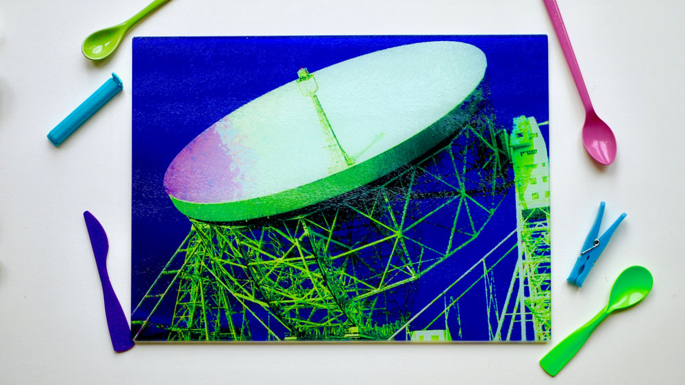 Jodrell Bank Chopping Board Blue
