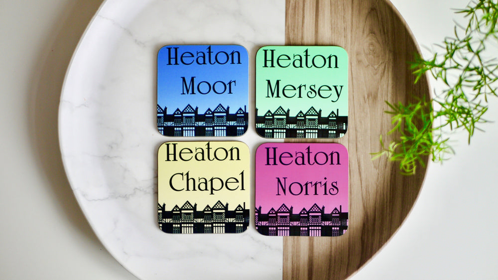 Load image into Gallery viewer, The Four Heatons - Set of 4 Coasters