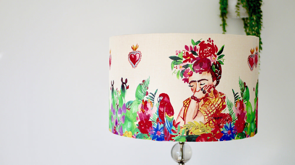 Load image into Gallery viewer, Frida Khalo Lampshade - Kitsch Republic