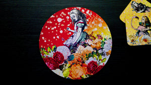 Load image into Gallery viewer, Alice in Wonderland Orange Worktop Saver - Chopping Board - Placemat - Kitsch Republic