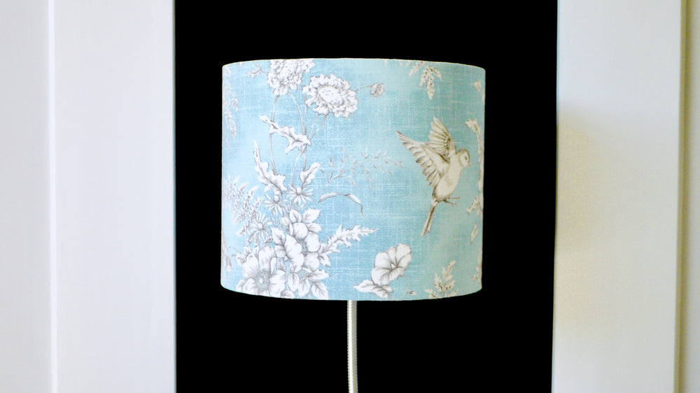 Load image into Gallery viewer, Blue Bird Lampshade 25cm Light Off