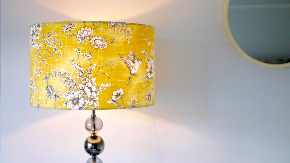 Yellow Bird Finch Lampshade - Kitsch Republic
