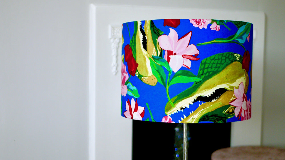 Crocodile Tropical Lampshade - Palm Leaves - Kitsch Republic