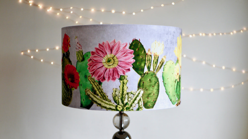 Load image into Gallery viewer, Velvet Cactus Lamp Shade