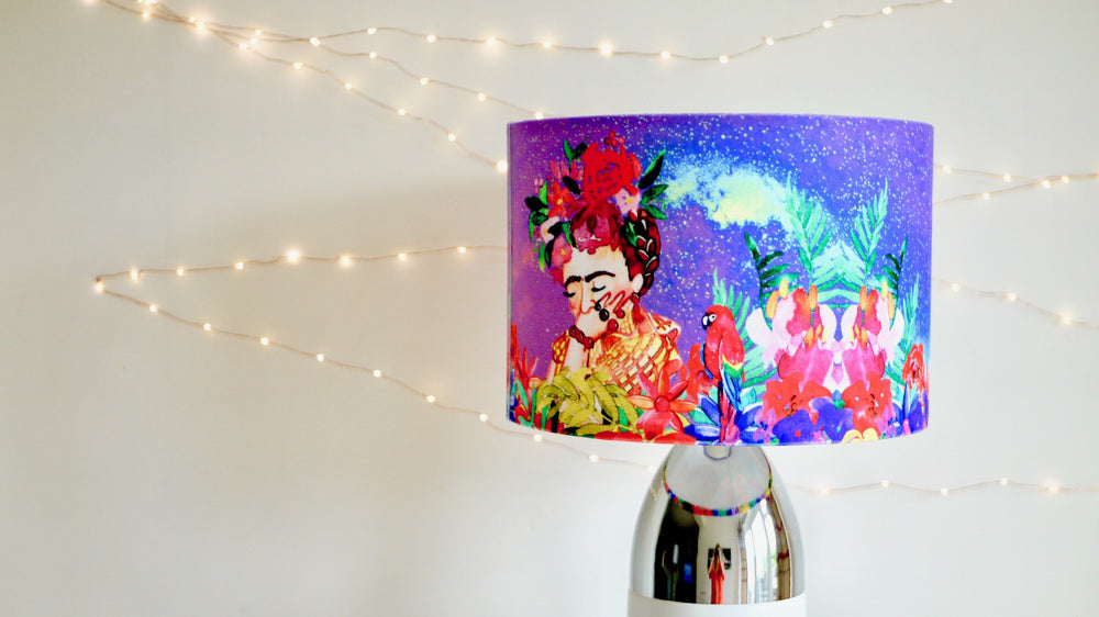 Load image into Gallery viewer, Frida Kahlo Velvet Lampshade
