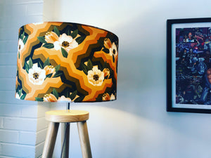 Last Chance to Buy - Retro Floral Print 40cm Lampshade - Kitsch Republic