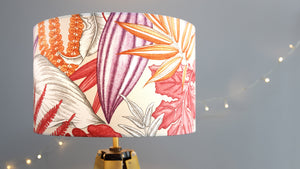 Load image into Gallery viewer, Pink Orange Tropical Lampshade