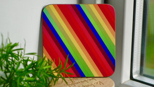 Load image into Gallery viewer, Rainbow Striped Coaster