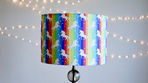 Rainbow Unicorn Lampshade