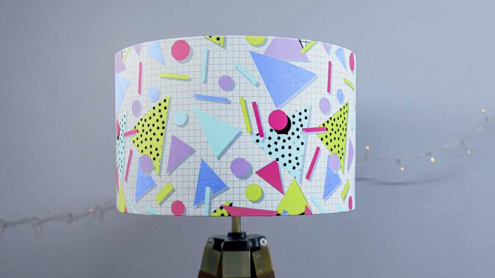 80s Retro Velvet Lampshade - Kitsch Republic