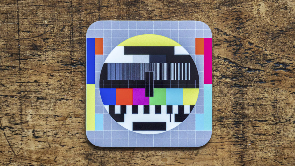 Test Card Retro TV Coaster - Kitsch Republic