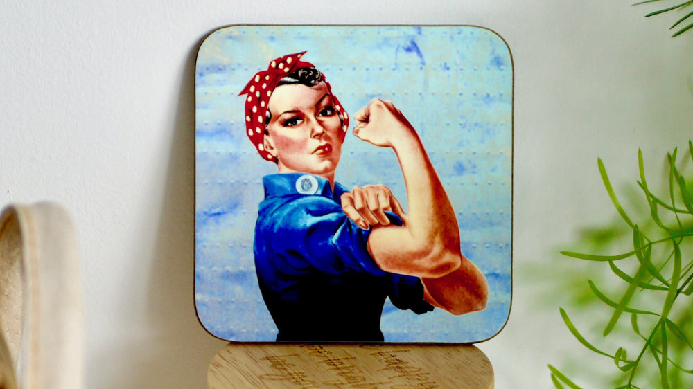 Load image into Gallery viewer, Rosie Riviter Strong Woman Coaster - Kitsch Republic