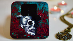 Rust Skull Day of the Dead Floral Coaster - Kitsch Republic