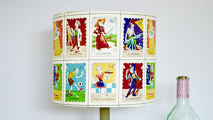 Day of the Dead Stamp Skeleton Lampshade - Kitsch Republic