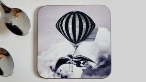 Steampunk Grey Balloon Coaster - Steampunk Collection - Kitsch Republic