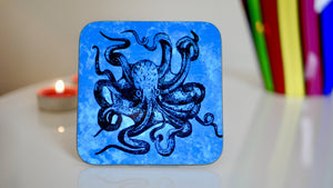 Steampunk Blue Kraken Octopus Coaster - Steampunk Collection - Kitsch Republic