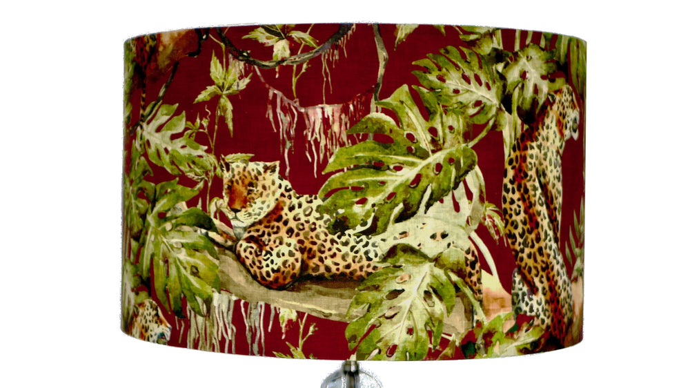 Tiger Tropical Brown Lampshade - Kitsch Republic