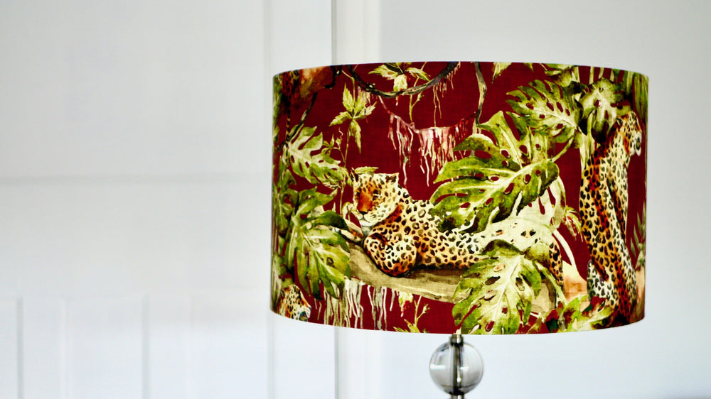 Load image into Gallery viewer, Tiger Tropical Brown Lampshade