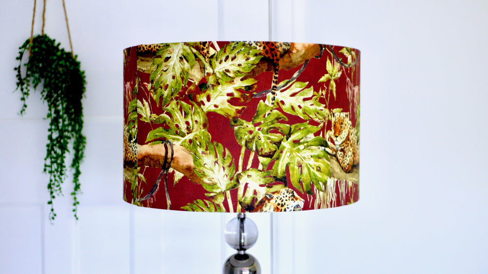 Tiger Tropical Brown Lampshade