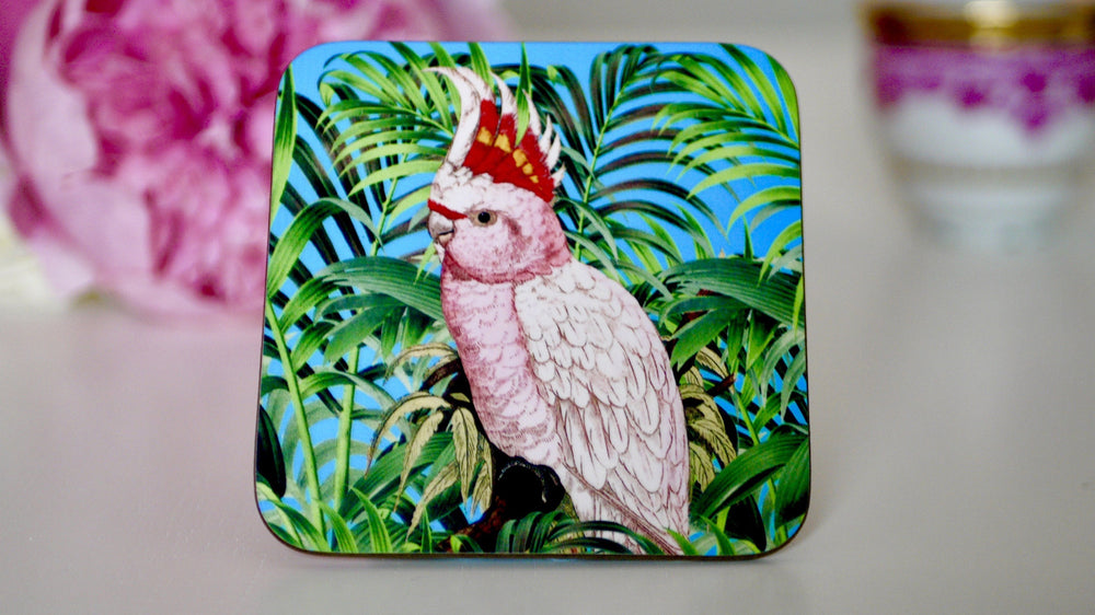 Parrot Tropical Bird Coaster - Kitsch Republic