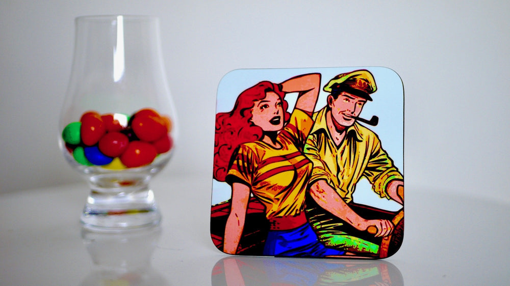 Load image into Gallery viewer, Vintage Pin Up Coaster - Kitsch Republic