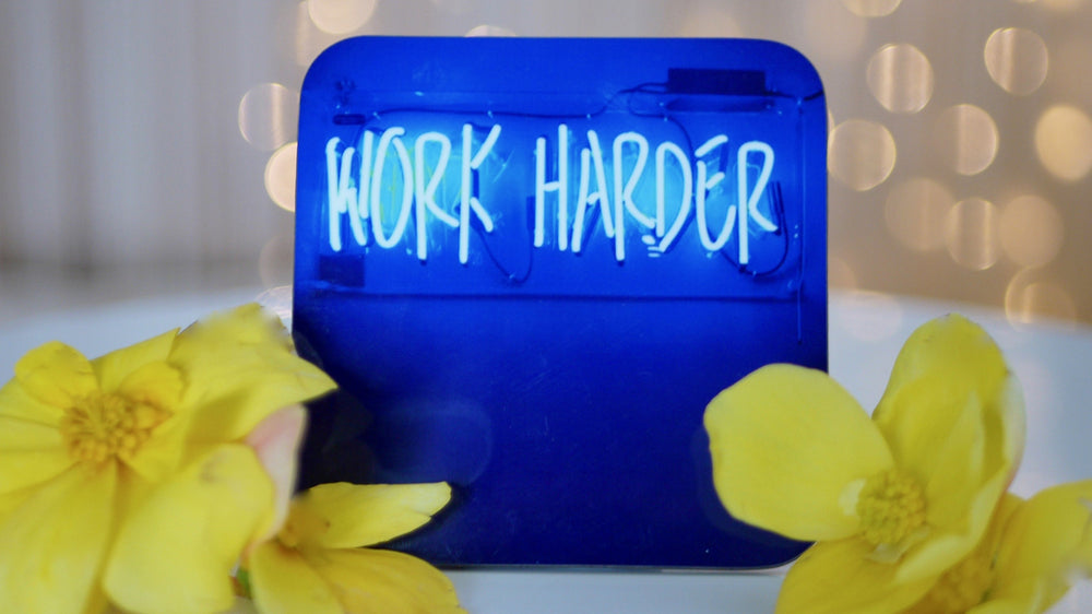 Work Harder Neon Sign Coaster - Kitsch Republic