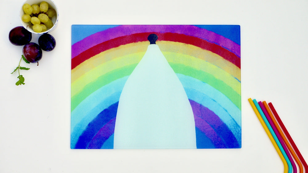 White Nancy Rainbow 40cm x 30cm Worktop Saver